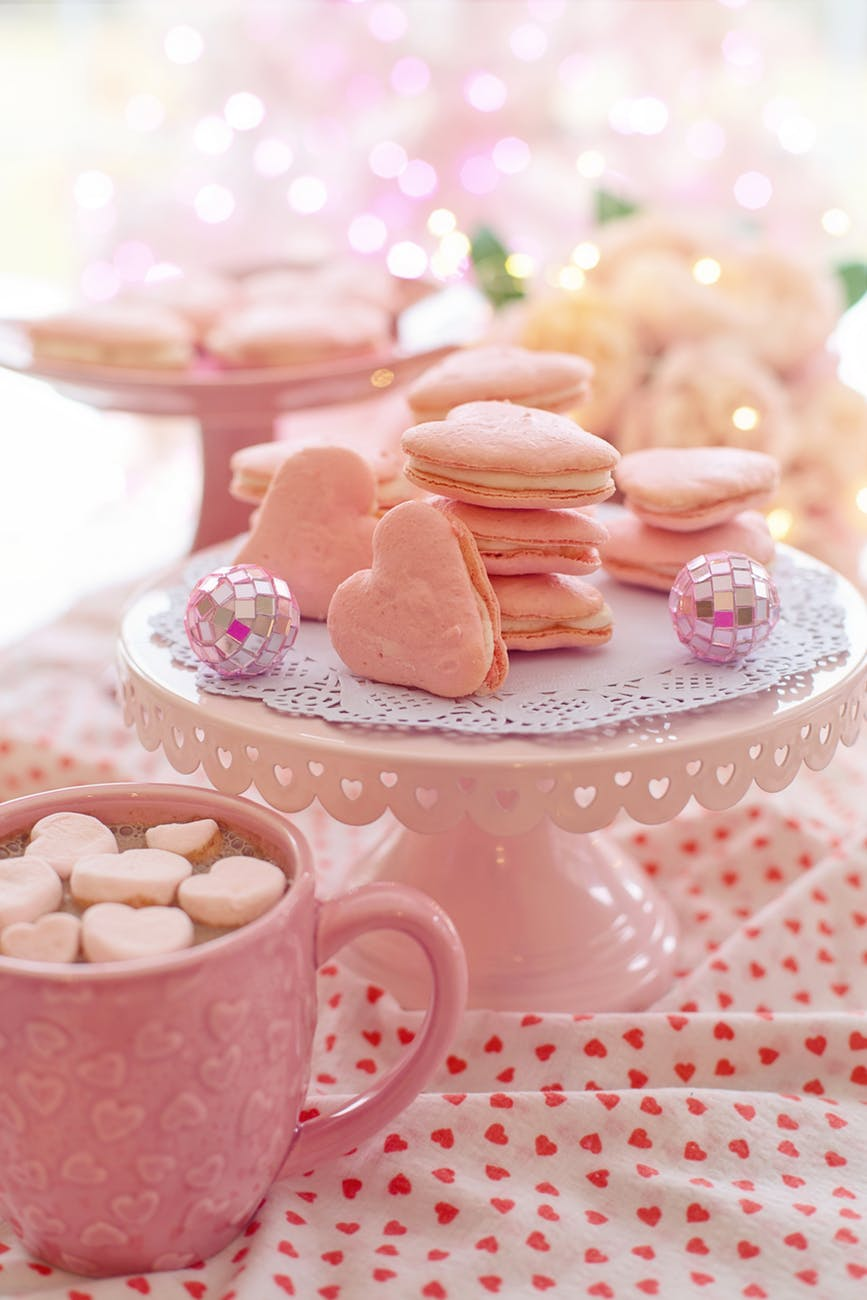 baked heart shape cookies