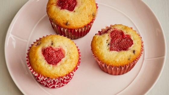 vday strawberry muffins